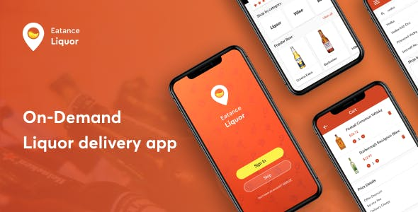 Eatance-On-Demand Liquor Delivery app