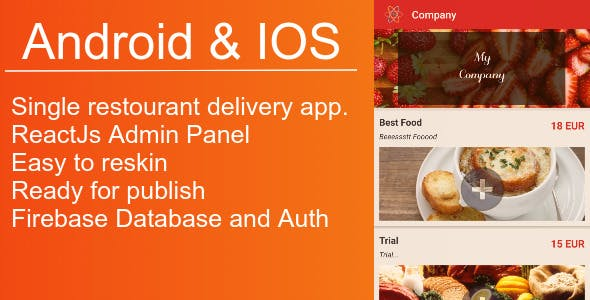 Local Restourant App and Control Panel For Andoird&IOS >> Expo