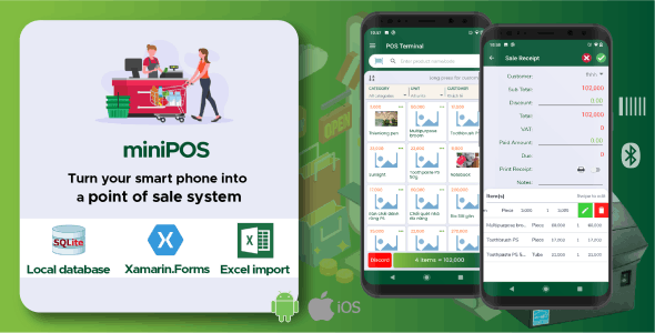 miniPOS - Mobile point of sale Android + iOS applications - CodeCanyon Item for Sale