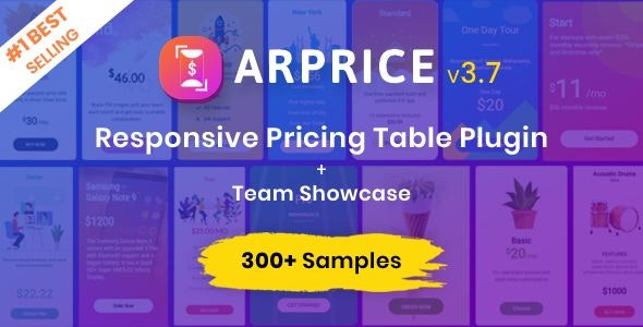 ARPrice - WordPress Pricing Table Plugin - CodeCanyon Item for Sale