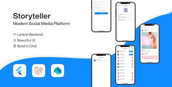 Flutter Storyteller - Social Media Platform - CodeCanyon Item for Sale