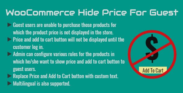 WooCommerce Hide Price For Guest | Hide Until Login