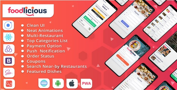 Foodlicious - Food delivery app with Multi Restaurant Food Ordering platform on Ionic 5 & Laravel 7 - CodeCanyon Item for Sale