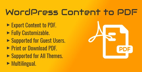 WordPress Content to PDF | Blog to PDF - CodeCanyon Item for Sale
