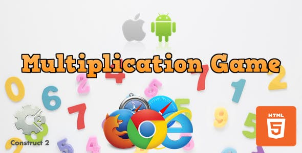 Multiplication Game - Educational Game - HTML5 (.Capx)
