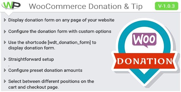 WooCommerce Donation & Tip