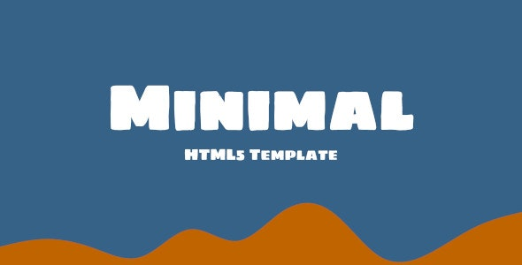 Minimal HTML5 Template - CodeCanyon Item for Sale
