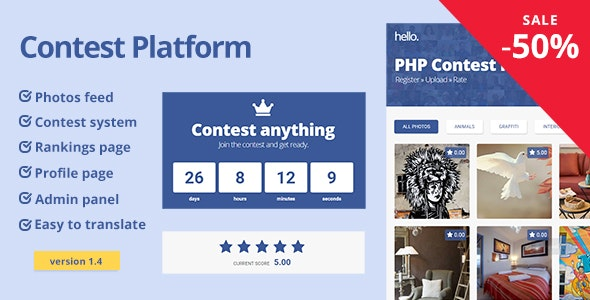 Contest Platform - CodeCanyon Item for Sale