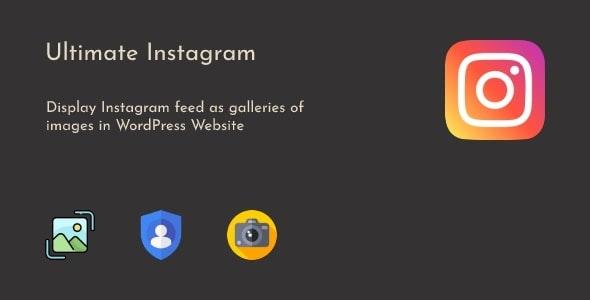 Ultimate Instagram - WordPress Instagram Photo Feed Gallery - CodeCanyon Item for Sale