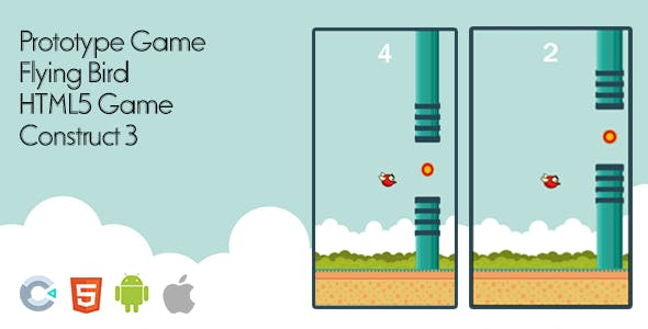 Prototype Game - Flying Bird - HTML5 Game Construct 3