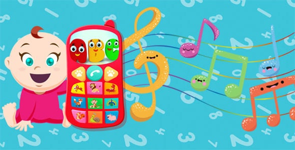 Baby Phone for toddlers - Numbers, Animals & Music - CodeCanyon Item for Sale