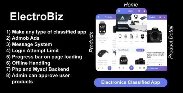 ElectroBiz : Electronics Classified App