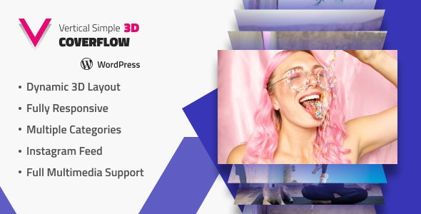 Vertical Simple 3D Coverflow Wordpress Plugin - CodeCanyon Item for Sale