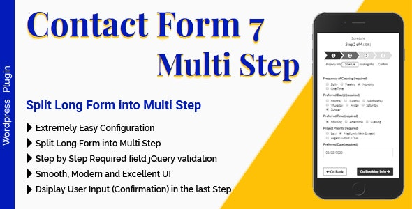 Contact Form 7 Multi Step - Split Long Form into Multi Step - CodeCanyon Item for Sale