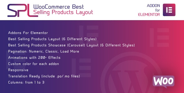 WooCommerce Best Selling Products Layout for Elementor - WordPress Plugin - CodeCanyon Item for Sale