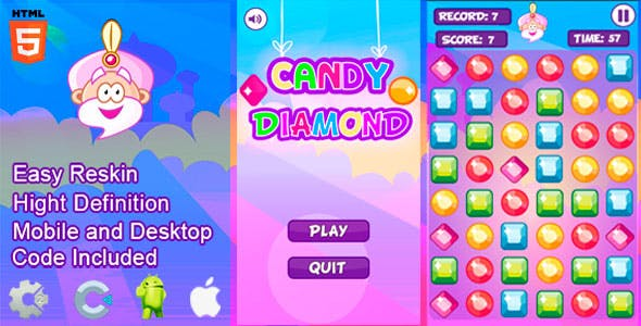 Candy Diamond - HTML5 and Mobile .capx