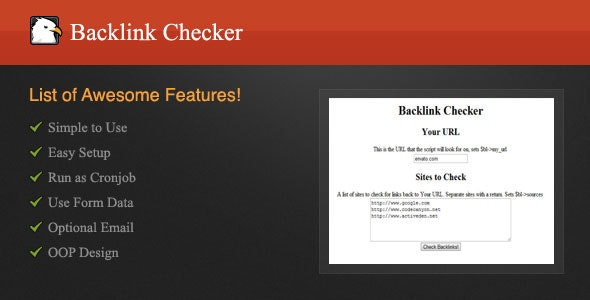 Backlink Checker - CodeCanyon Item for Sale