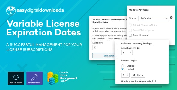 EDD Variable License Expiration Dates - CodeCanyon Item for Sale