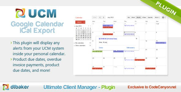 Freelance Calendar - CodeCanyon Item for Sale