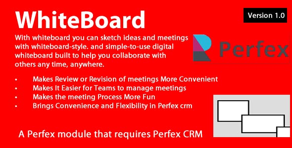 Whiteboard module 1.0.4 for Perfex CRM