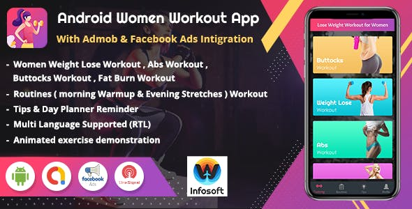 Android Women Workout at Home - Women Fitness app (V 1.1)