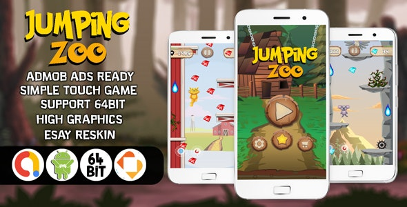Jumping Zoo with AdMob - Android Studio File (Ready for Publish) 2020 - CodeCanyon Item for Sale