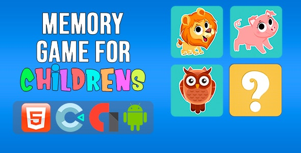 Memory Game for Childrens - CodeCanyon Item for Sale