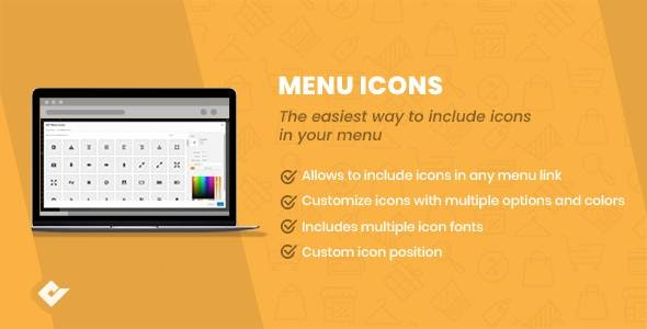 WP Menu Icons - CodeCanyon Item for Sale