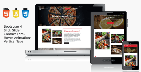 Responsive HTML5 Template - Cheesy Bites Restaurant - CodeCanyon Item for Sale