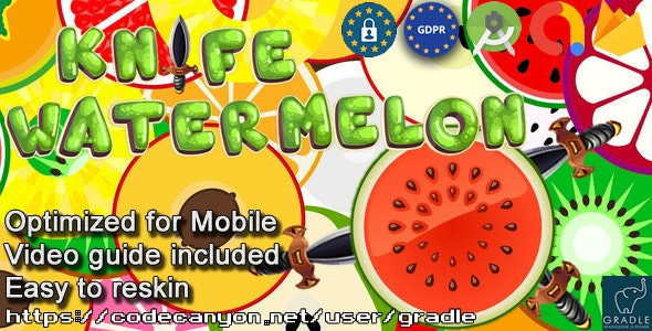 Knife Watermelon (Admob + GDPR + Android Studio) - CodeCanyon Item for Sale