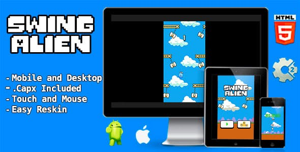 Swing Alien - Html5 Game and Mobile