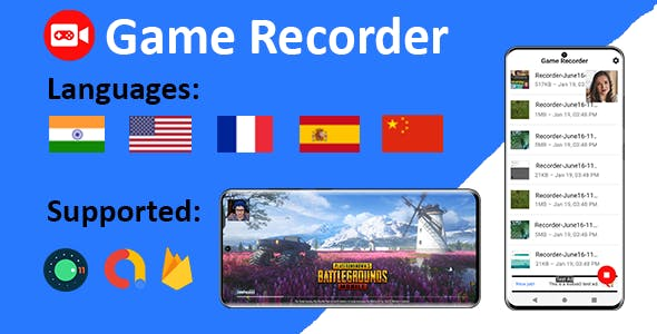Game Recorder with Front Camera and Audio
