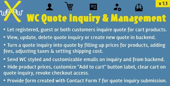 WooCommerce Quote Inquiry & Management
