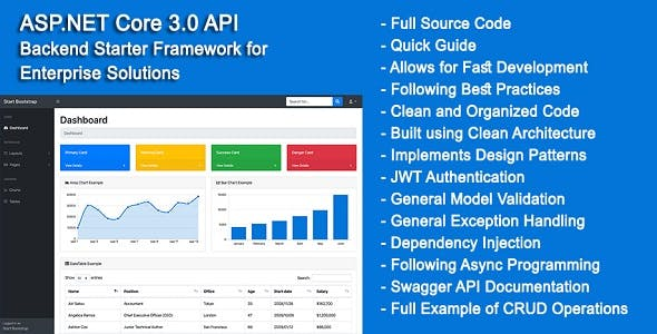 ASP.NET Core 3.0 API Backend Starter Framework for Enterprise Solutions