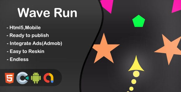 Wave Run - Html5 Game and Mobile (Construct 3)