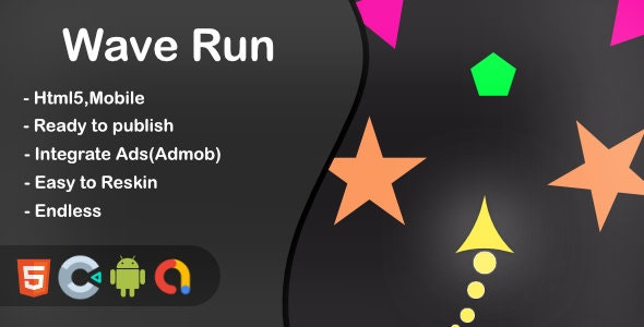 Wave Run - Html5 Game and Mobile (Construct 3) - CodeCanyon Item for Sale