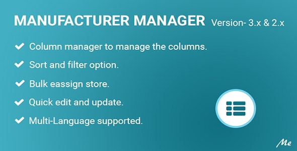 Manufacturer Manager - CodeCanyon Item for Sale
