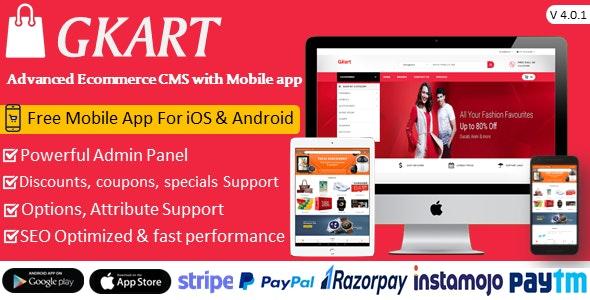 Gkart Ecommerce CMS - CodeCanyon Item for Sale