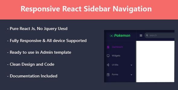 Responsive React Sidebar Navigation - CodeCanyon Item for Sale