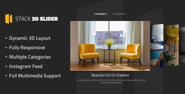 Stack 3D Slider - CodeCanyon Item for Sale