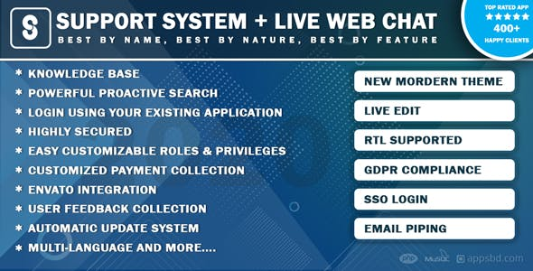 Best Support System-Live Web Chat & Client Desk & Ticket Help Centre