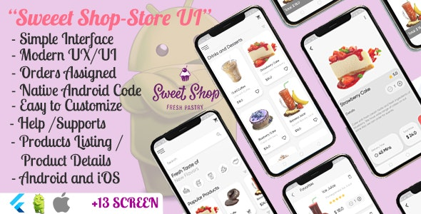 Cafe Bakery Patisserie App UI - Flutter - CodeCanyon Item for Sale