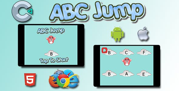 ABC Alphabet Jump - HTML5 Mobile Game