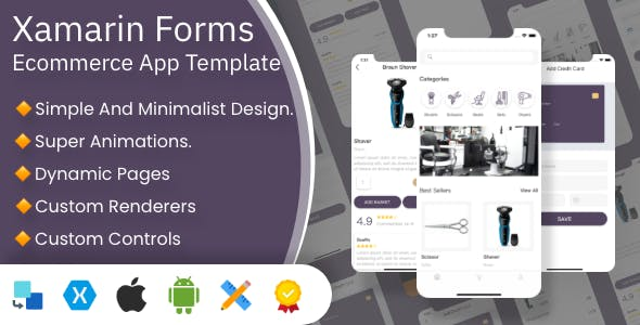 XFShop E-Commerce App | Xamarin Forms