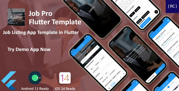 JobPro - Job Listing App Template in Flutter - CodeCanyon Item for Sale