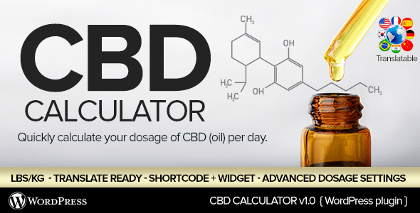 CBD Oil Dosage Calculator for WordPress