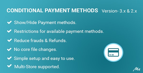 Conditional Payment Methods - CodeCanyon Item for Sale