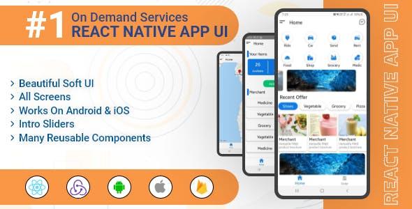 OnDemand Services - React Native App UI Template