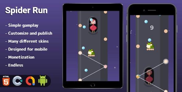 Spider Run - HTML5 game (Construct 3)