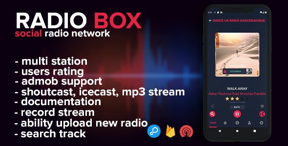 Radio Box - social radio network (android) - CodeCanyon Item for Sale